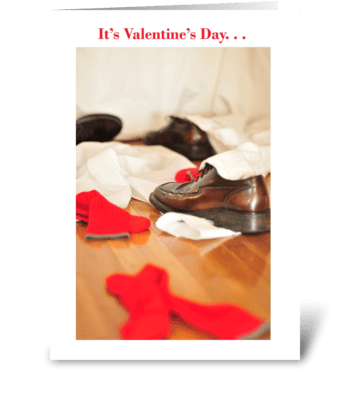 It's Valentine's Day greeting card