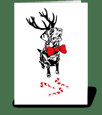 Labrador Christmas Card greeting card