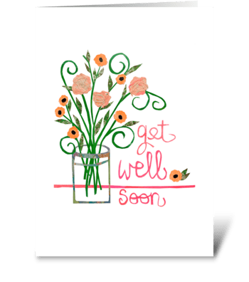 Get Well Roses greeting card