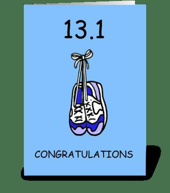 Half Marathon Congratulations for HIm greeting card