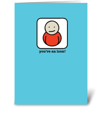 Icon greeting card