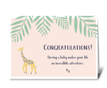 Congratulations on Baby! greeting card