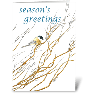 Lone Chickadee greeting card