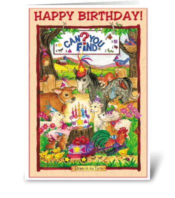 Can You Find? Activity Birthday Card greeting card