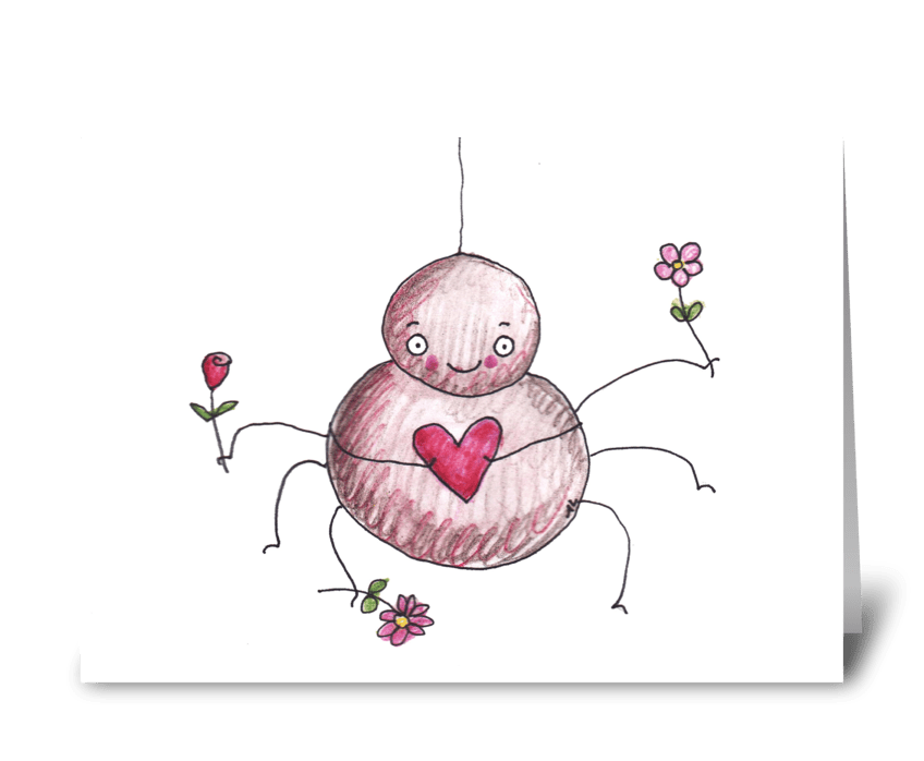 Spider Love greeting card