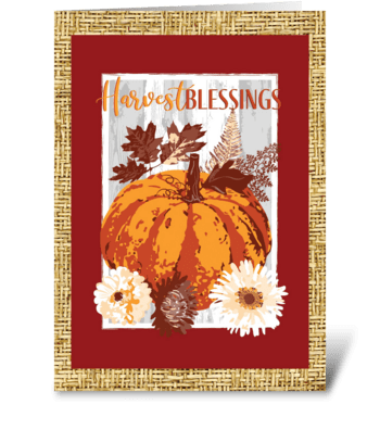 Harvest Blessings greeting card