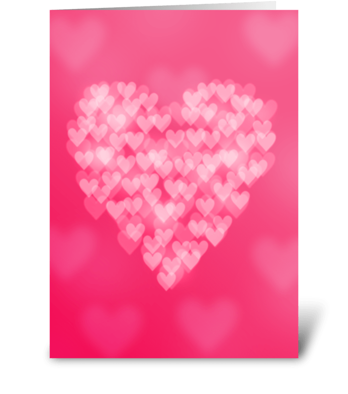 Bokeh Heart Valentine's Day Card greeting card