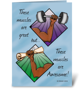 Intellectual Muscle greeting card