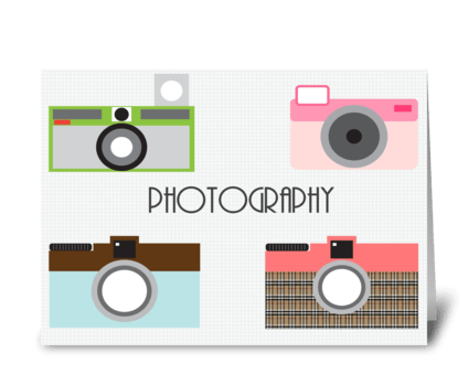 Sweet Cameras! greeting card