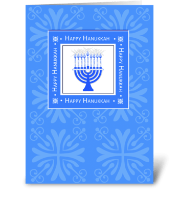 Hanukkah in Blue greeting card