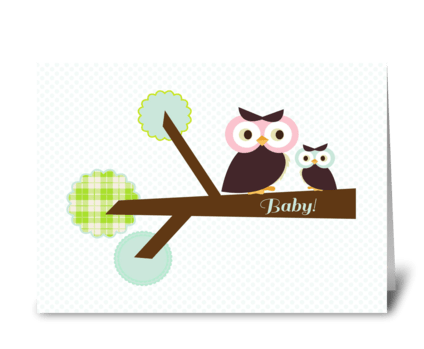 Owl Baby Shower  greeting card