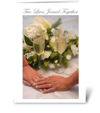 Two Lives Joined Together greeting card