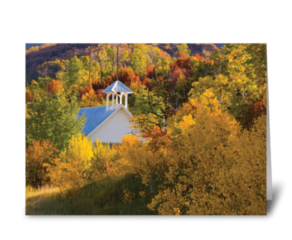 Seasons: Early Fall greeting card
