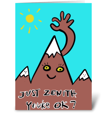 Zenith Your Ok? greeting card