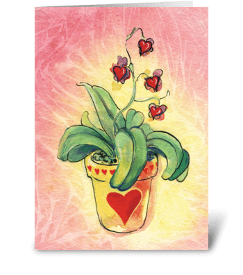 Bloomin' Valentine greeting card