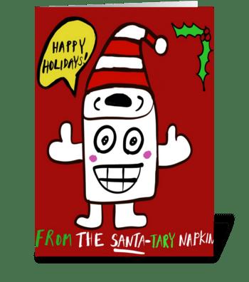 The Santa-Tary Napkin greeting card