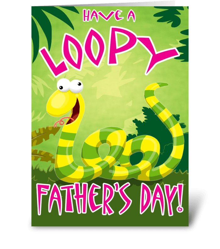 Loopy Father's Day greeting card
