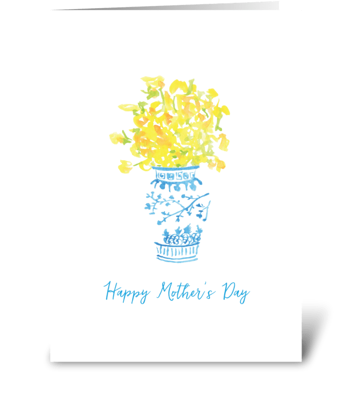 Happy Mother's Day - ginger jar greeting card