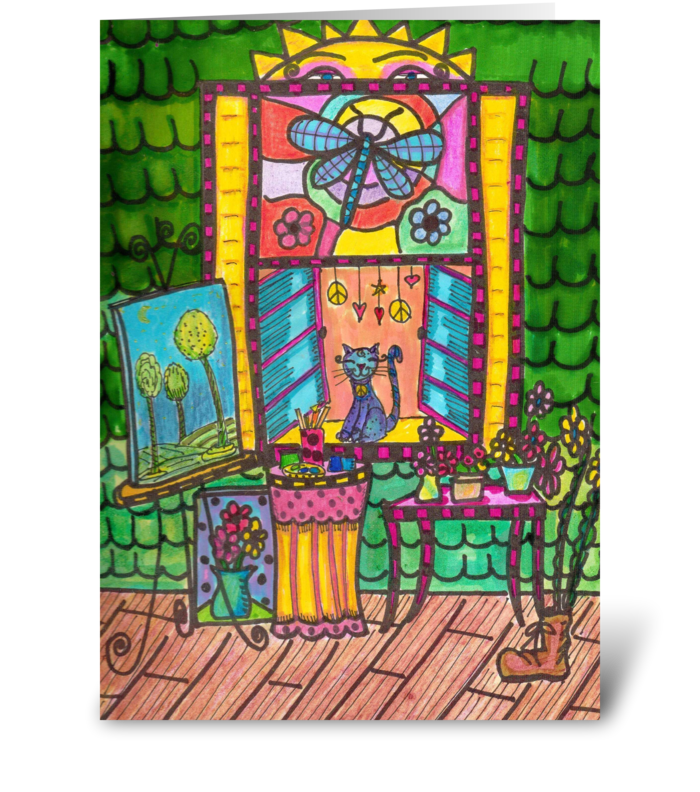 The Front Porch Artist greeting card