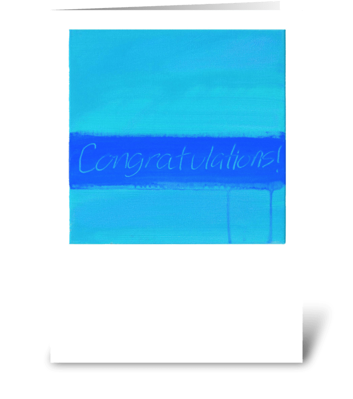 Congratulations Painting-Blue & Blue greeting card