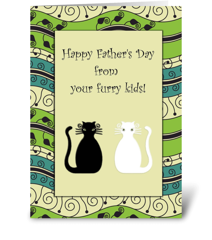 Happy Father's Day Cats Card greeting card
