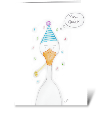 Birthday Duck greeting card