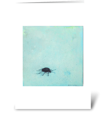 black beetle greeting card