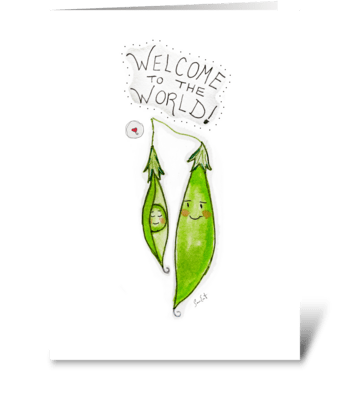 Welcome To The World Single Parent greeting card
