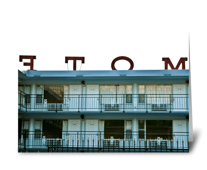 Downtown Seattle Motel greeting card