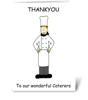 Thanks to Caterers greeting card