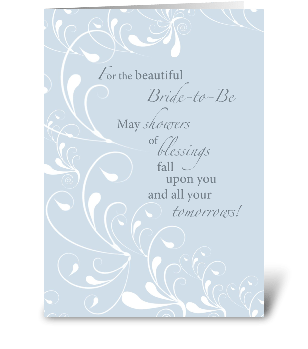 bridal shower congratulations swirls  send this greeting