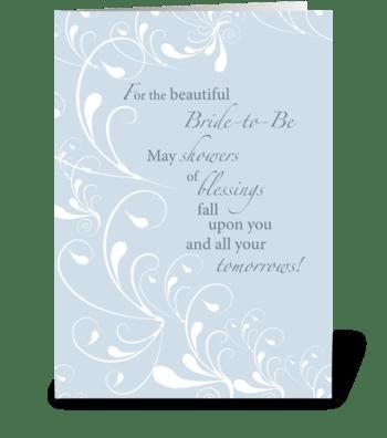 Bridal Shower Congratulations Swirls greeting card