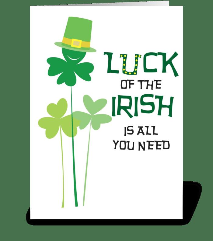 Irish is all you need greeting card