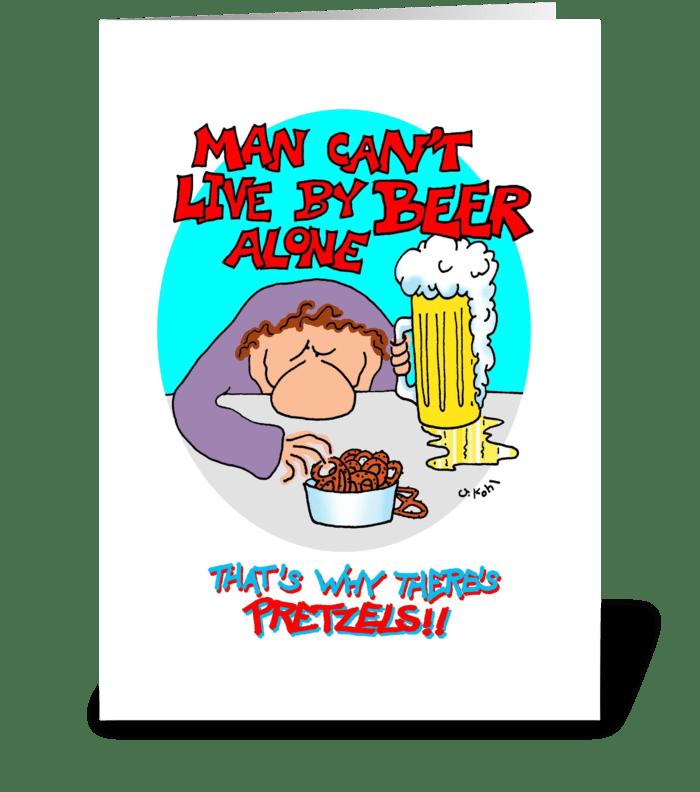 Beer Alone greeting card