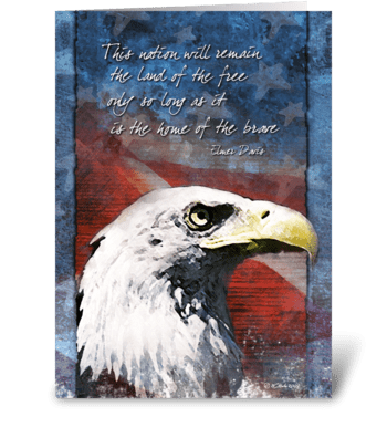 Land of the Free Vateran's Day Card greeting card