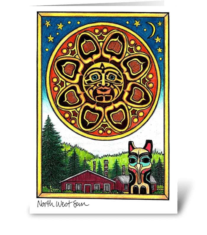 North West Sun greeting card