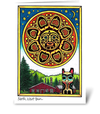 North West Sun greeting card