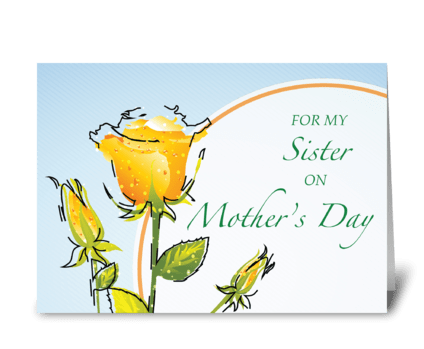 Sister Mother's Day Yellow Watercolo greeting card