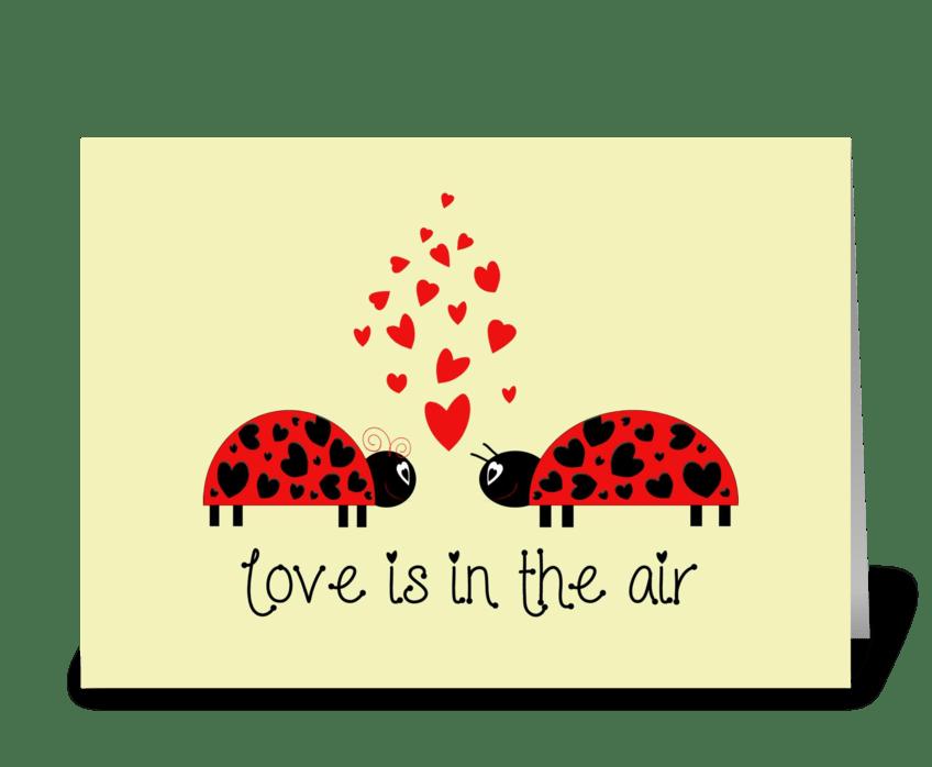 Love Bug greeting card
