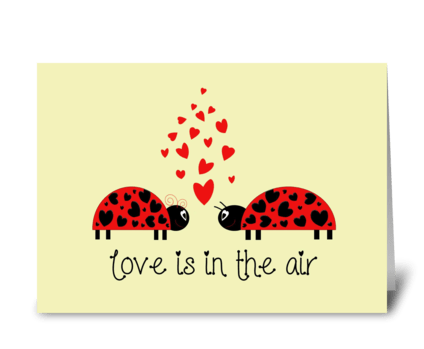 Love Bug greeting card