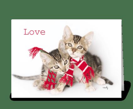 Love Christmas Kittens greeting card