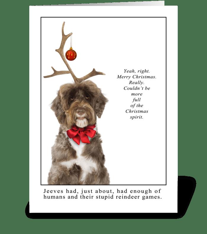 Reindeer Games greeting card