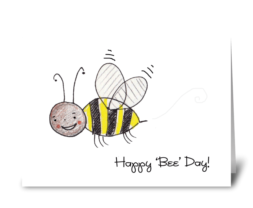 Happy 'Bee' Day greeting card