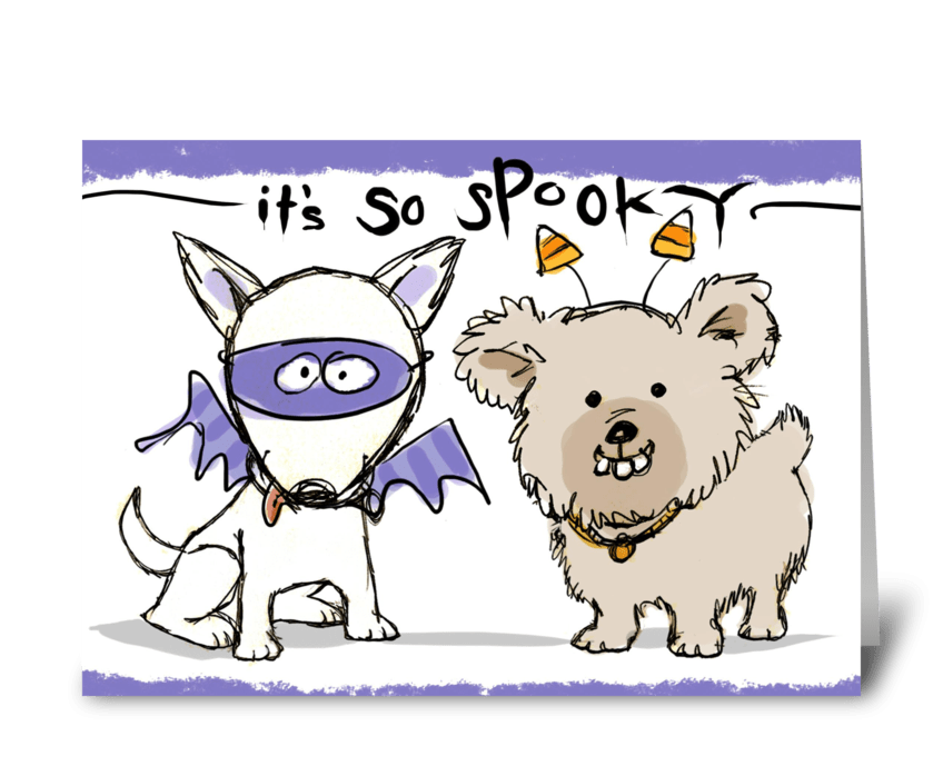 Spooky Friends! greeting card
