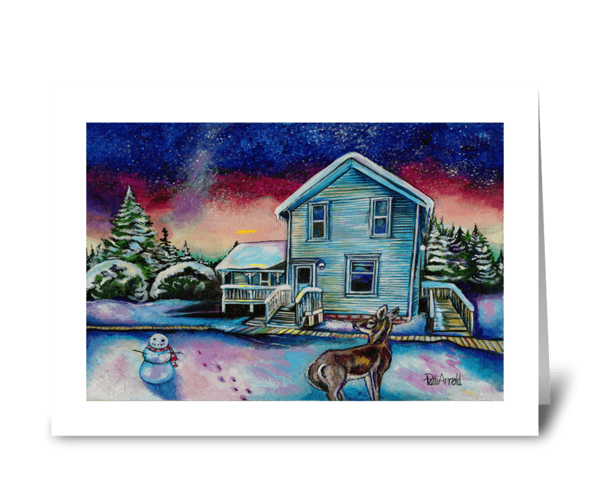 Winter Northern Lights greeting card