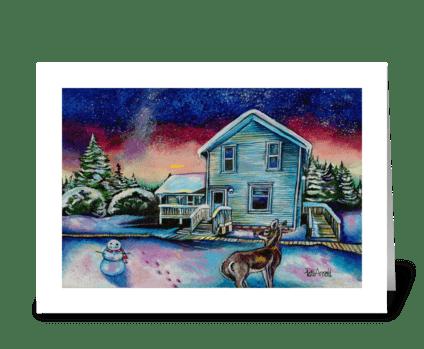 Winter Northern Lights greeting card