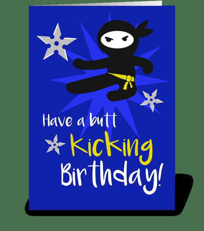 Ninja birthday greeting card