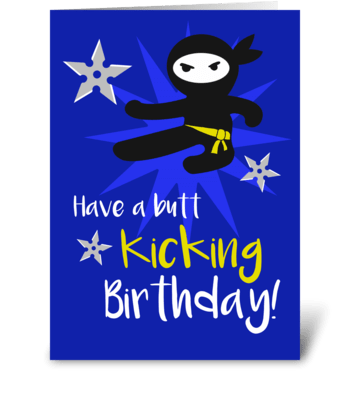 Ninja birthday greeting card