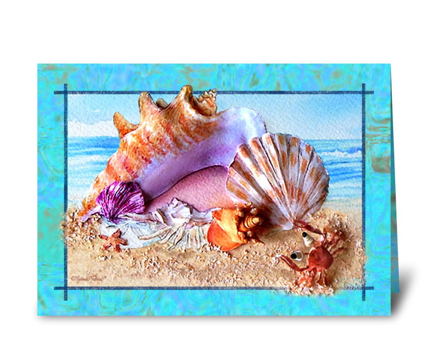 Seashell Greeting Card greeting card
