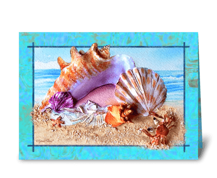 Seashell Greeting Card greeting card